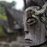 Batak 'totem pole' carvings