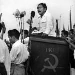 Aidit saat kampanye Pemilu 1955