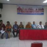 Tokoh-tokoh agama sedang melakukan konferensi pers di Hotel Sentani Indah, Senin (19/5)