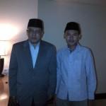 KH. Sa'id Aqil Siradj (kiri) dan redaktur elsaonline