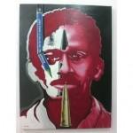 Salah satu karya Tribute to Munir 'Melawan Lupa' yang dipamerkan
