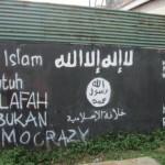 Mural dukungan ISIS di Solo (foto: sindonews.com)