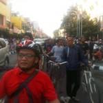 Rombongan bersepeda menolak kedaluars kasus Udin