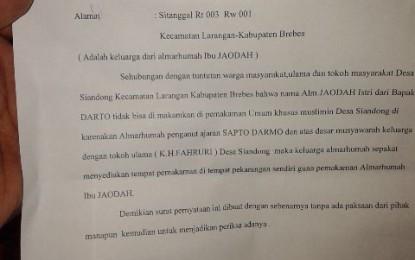 Kepala Desa dan Tokoh Agama Menolak Pemakaman Penghayat Sapto Darmo