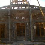 Pembangunan  sanggar Sapta Darma bernama Candi Busono di Dukuh Blando, Desa Plawangan, Kecamatan Kragan, Kabupaten Rembang . Foto: Istimewa
