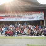 """Ekspresi peserta """"Konferensi Pemuda Nusantara untuk Perdamain Indonesia"""", 26-28 Oktober 2016 di Aula Tawang Praja, Kompleks Balaikota Surakarta. [Foto: Wahib]"""