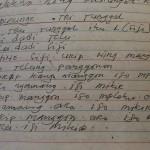 Konsep buku tentang Samin Surosentiko yang ditulis tangan oleh Budi Santoso. [Foto: Munif]