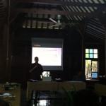 Zainal Abidin Baqir saat menyampaikan presentasinya. [Foto: TKh]