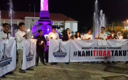 Mahasiswa Buddhis Gelar Aksi Melawan Terorisme