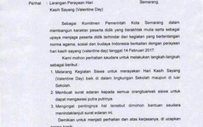 Walikota Semarang Tarik Surat Larangan Valentine